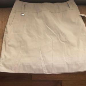 Lisette Sport tan skort size 14 -brand new
